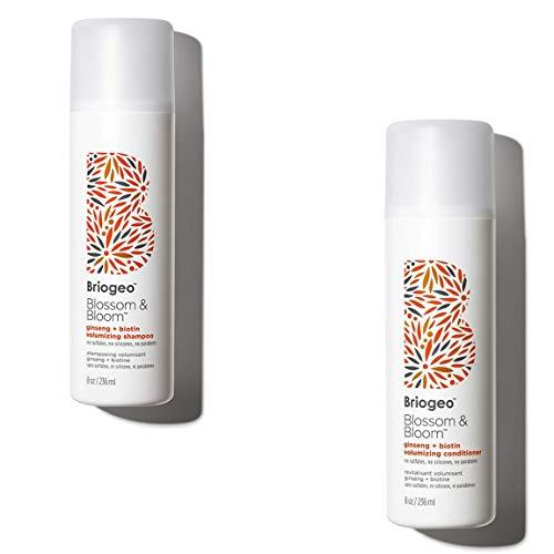 Briogeo - Briogeo - Blossom & Bloom Ginseng + Biotin Volumizing Shampoo/Conditioner, Fortified with Follicle Stimulating Ginger, Ginseng, and Biotin for Full and Healthy Hair, 8 oz (Shampoo + Conditioner)