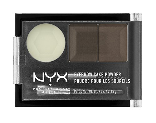 NYX NYX Eyebrow Cake Powder, Dark Brown/Brown