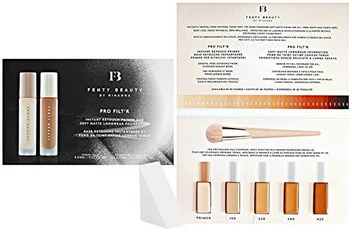 Fenty Beauty Fenty Beauty By Rihanna Pro Filt'r Instant Retouch Primer & Soft Matte Longwear Foundation Sample Packet (Free Cosmetic Wedge Sponge Included)
