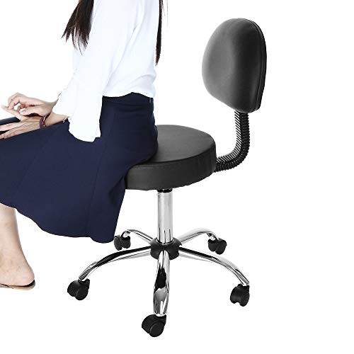 Lefthigh - Lifting Round Stool,Lefthigh Hydraulic Salon Chair Office Chair Beauty Salon Work Bench Bar Chair Black