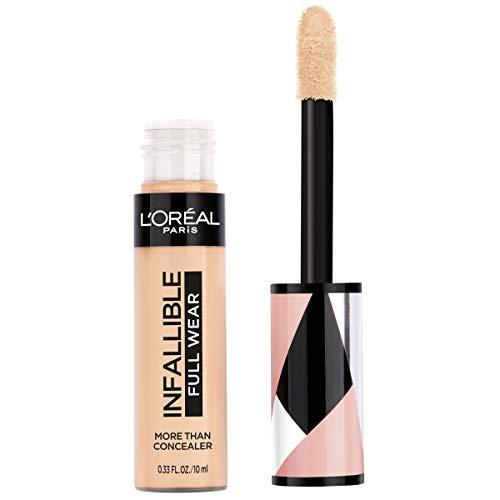 L'Oreal Paris - L'Oréal Paris Makeup Infallible Full Wear Concealer, Full Coverage, EXTRA LARGE Applicator, Waterproof, Multi-Use Concealer to Shape, Cover, Contour & Sculpt, Matte Finish, Cashmere, 0.33 fl. oz.