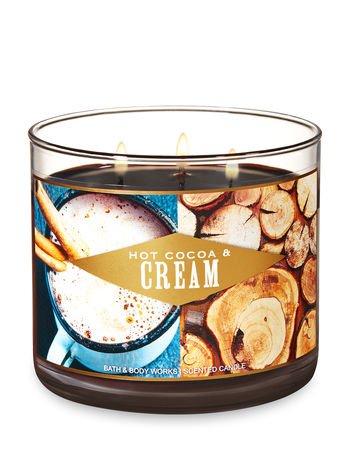 Bath & Body Works -  3 Wick Candle, Hot Cocoa & Cream