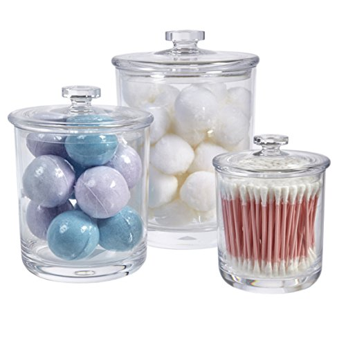 STORi - Premium Quality Clear Plastic Apothecary Jars | Set of 3