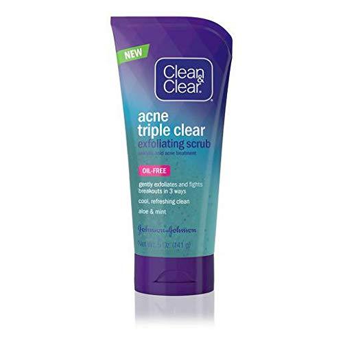 Clean & Clear - Clean and Clear Acne Triple Clear Exfoliating Scrub, 5 Fluid Ounce - 24 per case.
