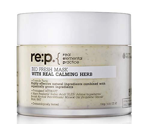 re:p. - RE:P Bio Fresh Mask Real Calming Herb Facial Peel-Off Natural for Sensitive Skin Moisturizer - 4.55 o.z