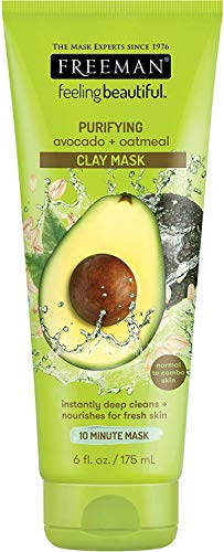 Freeman - Avocado + Oatmeal Clay Mask by Freeman Beauty, 6 oz tube