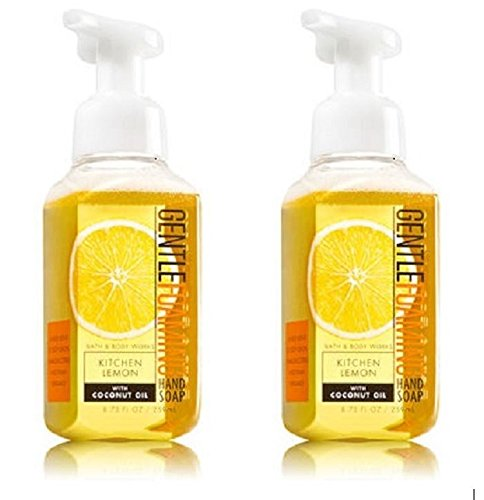 Bath & Body Works - Bath and Body Works Gentle Foaming Hand Soap, Kitchen Lemon 8.75 Ounce  (2-Pack)