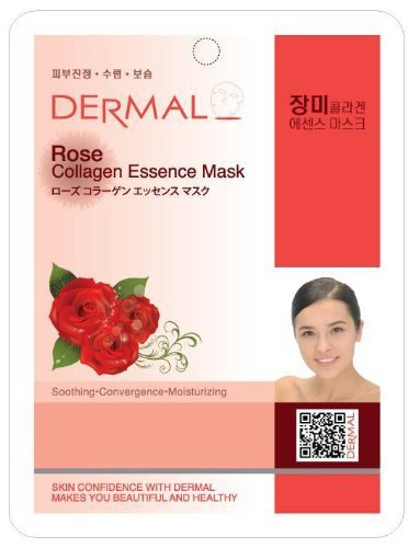 DERMAL - DERMAL Rose Collagen Essence Facial Mask Sheet 23g Pack of 10