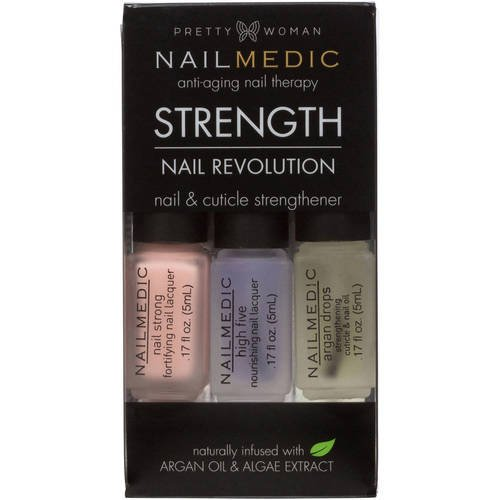 Pretty Woman - Pretty Woman NAIL MEDIC Nail Revolution STRENGTH Nail & Cuticle Strengthener with Argon Oil & Algae Extract VEGAN