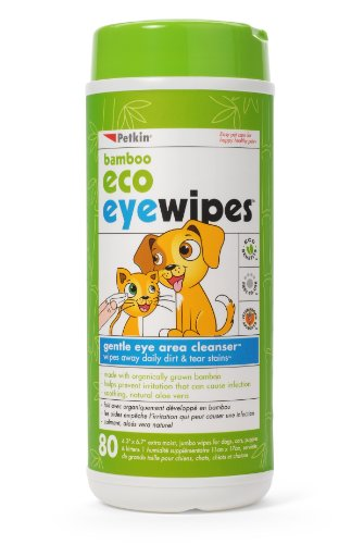 null - Petkin Bamboo Eco Eyewipes, 80 Count