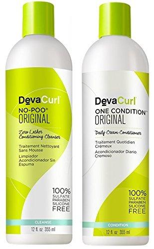 DevaCurl - No-Poo Original  + One Condition Combo