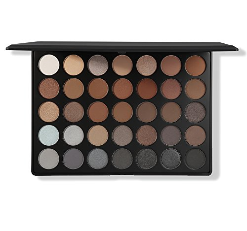 Morphe MORPHE Pro 35 Color Eyeshadow Makeup Palette - Koffee Palette 35K - Professional shimmer coffee eyeshadow palette with intense pigment
