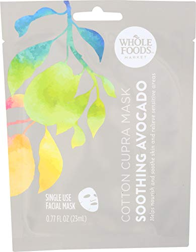Whole Foods Market - Whole Foods Market Cotton Cupra Facial Mask Soothing Avocado, 0.77 oz