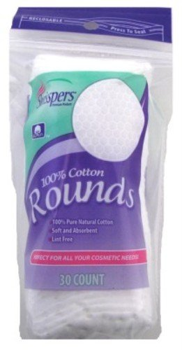 Swisspers - Swisspers Cotton Rounds 30 Count 100% Cotton (3 Pack)