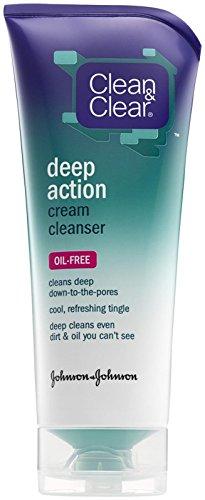 Clean & Clear - Deep Action Oil-Free Cream Cleanser