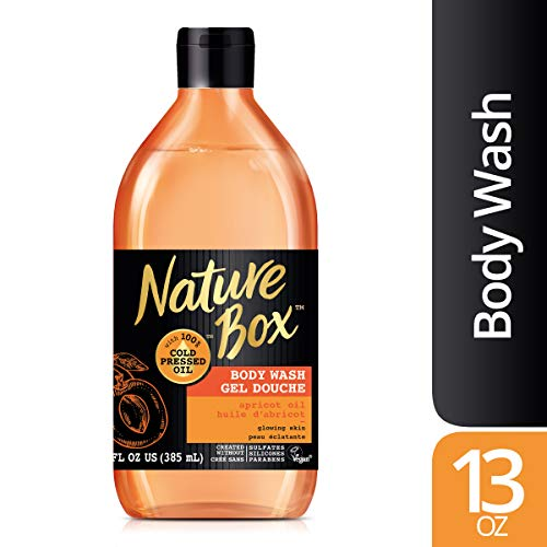 Nature Box - Nature Box Body Wash - for Glowing Skin, with 100% Cold Pressed Apricot Oil, 13 Ounce