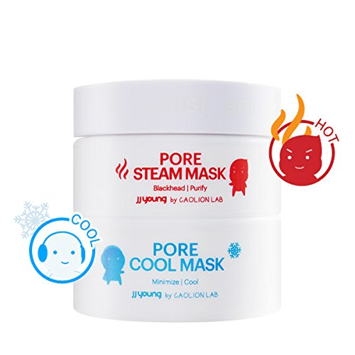 JJ YOUNG - JJ Young Pore Steam & Cool Mask - Cleanses Pores, Removes Dead Skin Cells With Charcoal And Volcanic Ash, Tightens Enlarged Pores, And Calms Troubuled Skin - 1.76 oz.