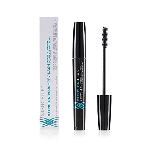 Marcelle - Marcelle Xtension Plus + Pro Lash Growth Complex Mascara, Black, Hypoallergenic and Fragrance-Free, 0.3 fl oz