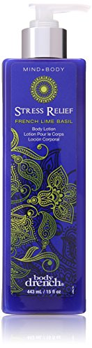 Body Drench - Body Drench Mind Plus Body Collection Stress Relief French Lime Basil Lotion, 15 Ounce
