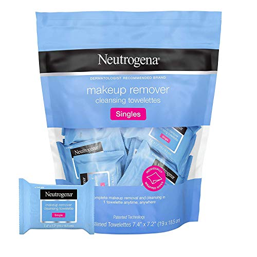 Neutrogena Neutrogena Makeup Remover Cleansing Towelette Singles, Daily Face Wipes To Remove Dirt, Oil, Makeup & Waterproof Mascara, Individually Wrapped, 20 Count (Pack of 3)