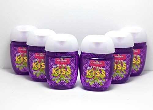 Bath & Body Works - Bath and Body Works Merry Berry Kiss PocketBac Hand Sanitizers, 6-Pack 1 Oz.