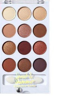 Sweet & Shimmer - Sweet & Shimmer Eyeshadow Palette, Neutrals, 12 Shades