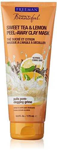 Freeman - Freeman Feeling Beautiful Peel-Away Clay Mask, Sweet Tea & Lemon 6 oz (Pack of 4)