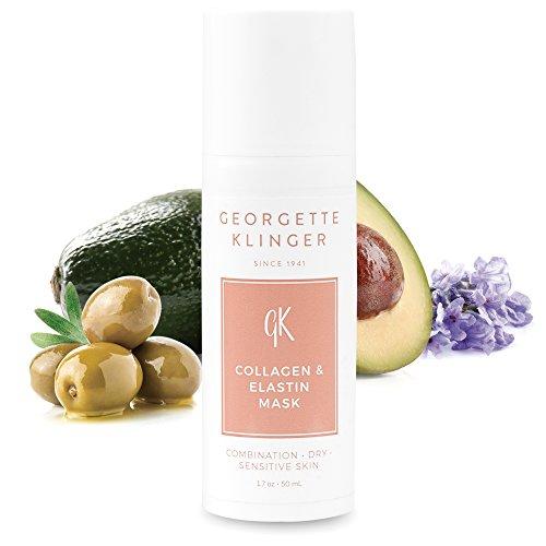 GEORGETTE KLINGER Collagen & Elastin Face Mask - Anti-Aging Clay Mask for Dry Skin, Lines & Wrinkles
