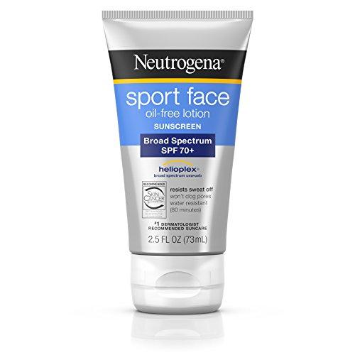 Neutrogena - Neutrogena Sport Face Oil-Free Lotion Sunscreen with Broad Spectrum SPF 70+, Sweatproof & Waterproof Active Sunscreen, 2.5 fl. oz