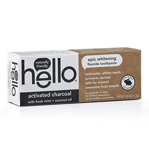 Hello Oral Care Activated Charcoal Fluoride Whitening Toothpaste