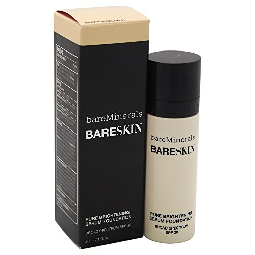 Bare Escentuals - bareMinerals bareSkin Pure Brightening Serum Foundation SPF 20, Bare Porcelain 01, 1 Ounce