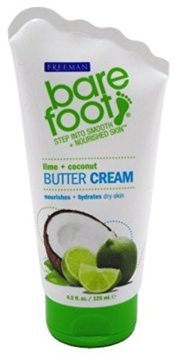 Barefoot Wine & Bubbly - Bare Foot Cream, Lime + Coconut Butter, 4.2 Fluid Ounce