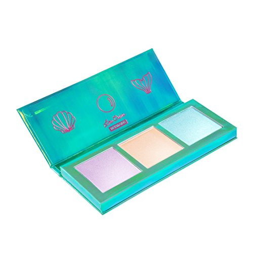 Lime Crime Lime Crime Mermaids Hi-Lite Palette. Iridescent Powder Trio - Highlighter Mermaid Makeup for All Skintones.