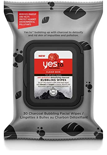 Yes to Tomatoes Detoxifying Charcoal Anti-pollution Bubbling Wipes