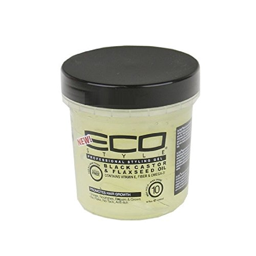 Eco Style - Eco Style Gel Black Castor and Flaxseed Oil, 8 Ounce