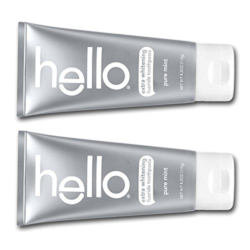 Hello - Oral Care hello all Natural Pure Mint Toothpaste 2 Pack 4.2 OZ each