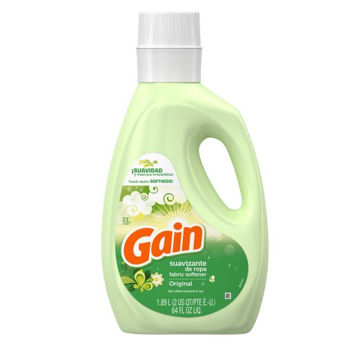 Gain - Gain Liquid Fabric Softener with Freshlock, Non-concentrated Original Fresh Scent, 21 Loads, 64-Ounce (Pack of 8)