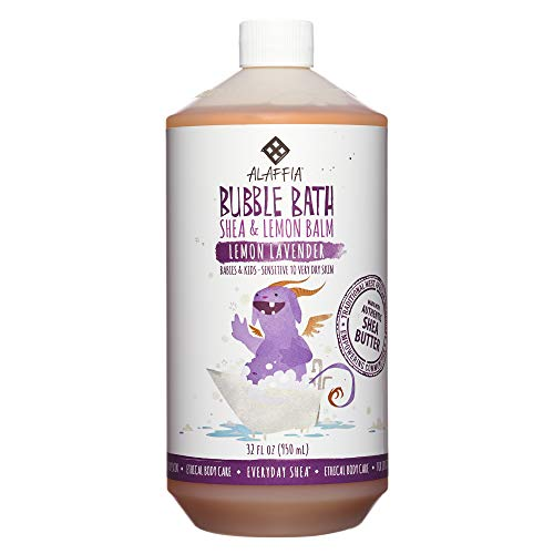 Alaffia - Alaffia - Everyday Shea Bubble Bath, Babies and Kids, Gentle Support to Clean, Moisturize, and Calm with Shea Butter, Lemon Extract, and Lavender Oil, Fair Trade, Lemon Lavender, 32 Ounces