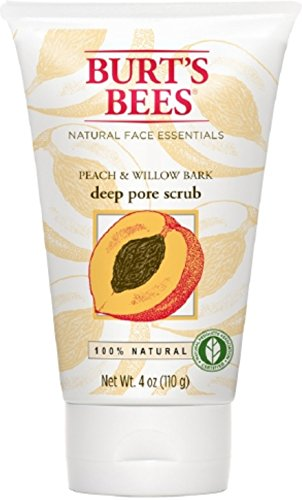 Burt's Bees - Burts Scrub Peach/Wlbk Size 4.Z Burt'S Bees Peach And Willowbark Deep Pore Scrub