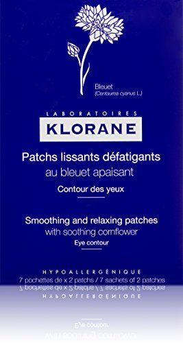 Klorane - Klorane Smoothing and Relaxing Patches with Soothing Cornflower for Puffy Tired Eyes, Soothing Eye Masks