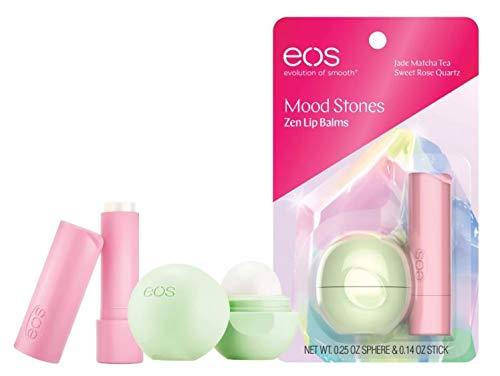 EOS - eos Mood Stones Zen Lip Balms Jade Matcha Tea Sphere (0.25 oz) and Sweet Rose Quartz Stick (0.14 oz)