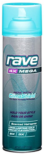 rave - Rave Scented Hairspray 4X Mega