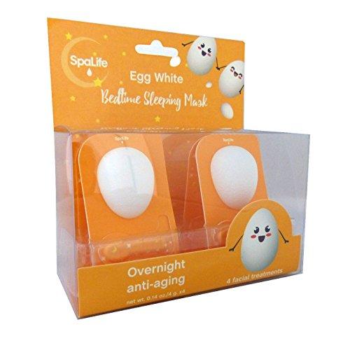 Spa life - Spa Life Anti Aging Bedtime Overnight Sleeping Egg White Mask 4 pack (Egg White)