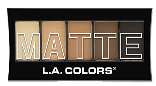 L.A. Colors - L.A. Colors 5 Color Matte Eyeshadow, Brown Tweed, 0.08 Ounce