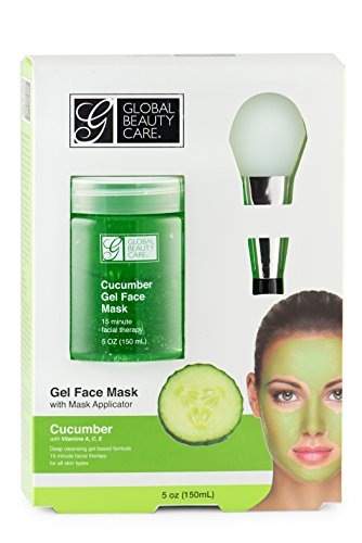 Global Beauty Care Green, Cucumber Gel Face Mask with Applicator