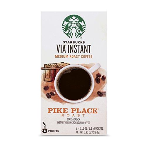 Starbucks - Starbucks VIA Instant Pike Place Roast Medium Roast Coffee (1 box of 8 packets)