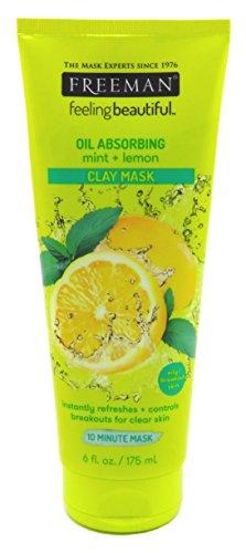 Freeman - Freeman Facial Mint & Lemon Clay Mask 6 Ounce (177ml) (3 Pack)