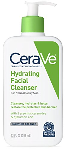 CeraVe - CeraVe Hydrating Facial Cleanser 12 oz for Daily Face Washing, Dry to Normal Skin