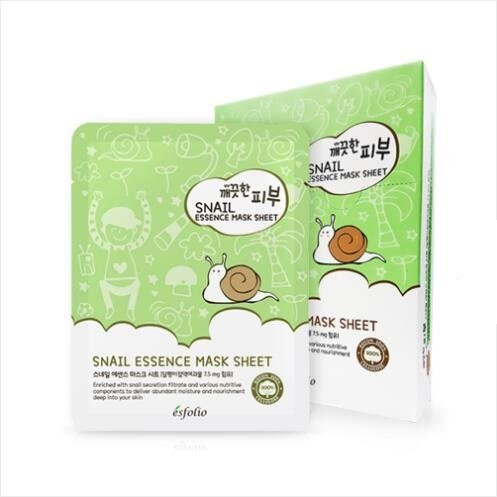 esfolio - Esfolio Pure Skin Snail Essence Mask Box, 11.8 Ounce