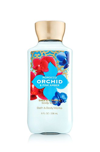 Bath & Body Works - Bath and Body Works Morocco Orchid Pink Amber Lotion 8 Ounces Full Size Retired Scent